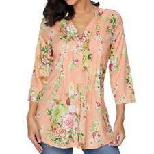 Women's Ladies Floral Casual Loose Long Sleeve Blouse Tops T-Shirt S- XXXXXXL