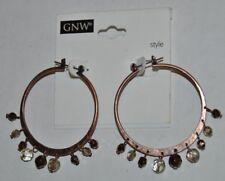 GNW Copper Beaded Hoop Earrings