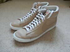 RRP£140 Nike Blazer Mid Premium High Tops Trainers Leather Retro UK 10 Tan