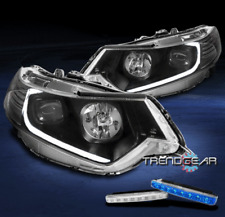 FOR 2009-2014 ACURA TSX [HID MODEL] LED BLACK PROJECTOR HEADLIGHT +BLUE DRL KIT