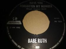 """BABE RUTH * HAVE YOU FORGOTTEN MY NUMBER * RARE 7"""" SINGLE IMPERIAL (HI 1206)"""