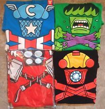 LOT of 4 JOHNNY CUPCAKES Avengers Crossbones Men's Small & Medium T-Shirts Thor