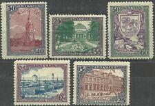 Latvia, 1925, Sc B24-28; Mi 107-111 MNH/**