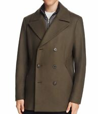 Theory NEW Brown Mens Size Large L Peacoat Wool Notch Collar Jacket $745- 218