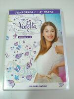 Violetta Stagione 1 - Parte 4 Episodi 61-80 - 4 X DVD Spagnolo Regione 2 - 3T