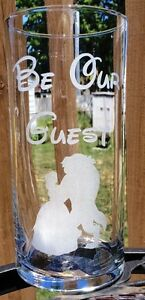 10 Wedding centerpieces Be Our Guest Beauty and the Beast Etched Glass Custom