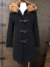 Marc New York Wool Cashmere Raccoon Fur Trim Hook Front Coat Size 2