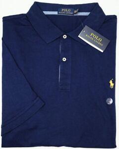 NWT $89 Polo Ralph Lauren Short Sleeve Navy Blue Shirt Mens NEW