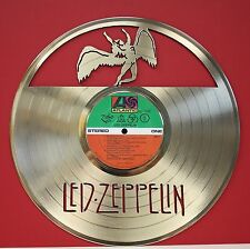 """Led Zeppelin """"Stairway to Heaven"""" Laser Cut Gold LP Record LTD Edition Wall Art"""