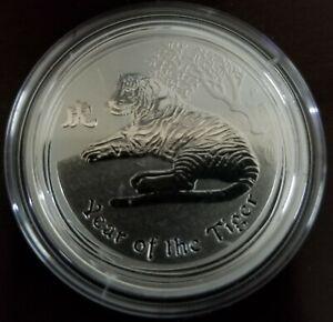 2010 P Australia Silver Lunar Series II Year of the Tiger 1/2 oz BU (FLAWLESS)