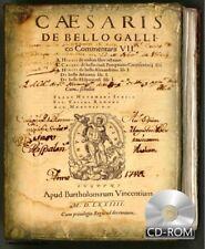 C. Julii Caesaris De bello gallico commentarii VII 1574 AD by César, Cayo Julio