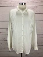 Worthington Women's Size 16 Button Down Long Sleeve Shirt White Top NWT