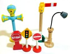 Street Signs Stop Sign Thomas Brio Street Lamp Wooden Train Track Set Accesories