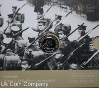 2014 Uk Brilliant Uncirculated Royal Mint £2 Coin Pack Outbreak Of 1st World War