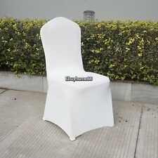 100x Spandex Lycra Banquet Stretchable Chair Covers White Wedding Party Banquet