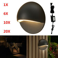 50mm Led Deck Stair Lights Half Moon Outdoor Step Path Recessed Lamp 12V Black