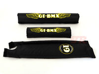 GT BMX Pad Set Old School BMX 3 Piece Black/Yellow