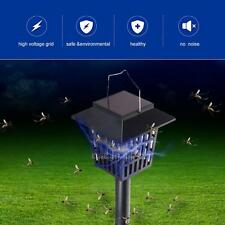 Solar Powered Led Light Pest Bug Zapper Insect Mosquito Killer Garden Lawn Lamp