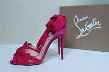 New sz 8 / 38.5 Christian Louboutin Christeriva Pink Lace up Ankle Sandal Shoes