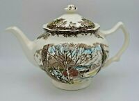 Vintage Johnson Brothers Friendly Village Pattern Teapot Made in England 4740188