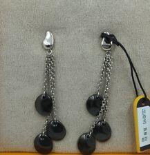 50% off. Black earrings steel Lotus Style
