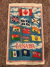 Vintage Textilimpex Kitchen Linen Flags of Canada - Quebec, Newfoundland
