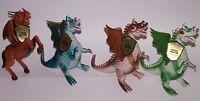 "Dragons & Daggers Fantasy Creatures 4 Action Figures 8"" w/Tags Motu KO New"