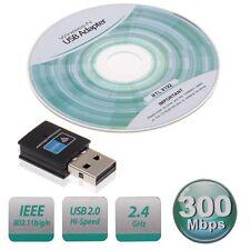 Mini 300Mbps Sans Fil Clé USB Wifi Adaptateur Dongle LAN 802.11n/g/b Réseau