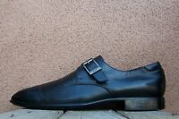 DONALD PLINER Mens Dress Shoes Soft Black Leather Casual Buckle Loafers Size 13M