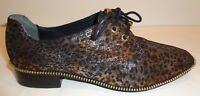 Adrianna Papell Size 8 M PAXTON Metallic Leather Lace Loafers New Womens Shoes