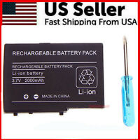 NEW 3.7V 2000mAh Rechargeable Battery+Screw Driver For Nintendo DS Lite NDSL DSL