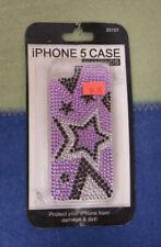 IPhone 5 Diamonds Phone Hard Case Stars Purple New