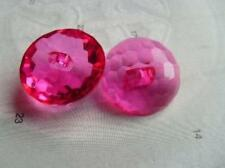 B226cl-13mm 10 BABY CRYSTAL DIAMOND GLASS EFFECT SHANKED PLASTIC ITALIAN BUTTONS