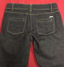"WHITE HOUSE BLACK MARKET ""Blanc Trouser Leg"" Black Jeans Size 8R Length 33"
