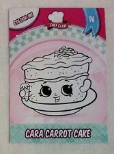 Shopkins Season 5-6 Collector Card 96 Cara Carrot Cake colour in card -Free Post