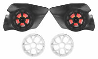 2) LED Marine Speakers+Kick Panel Pods for 2014-2017 Polaris RZR 1000/900S/Turbo