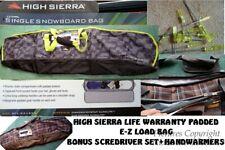 NEW HIGH SIERRA SNOWBOARD BAG COMBO W/BONUS GIFTS-PADDED-LIFE WARRANTY-2 COLORS