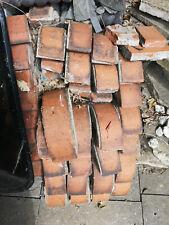 "10"" Half Round Wall Coping Red Bricks x 25 salvage - reclaimed - retro - vintage"