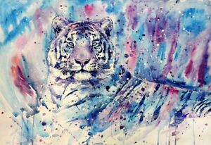 Funny Gifts Home Decor Tiger Abstract Oil Painting Picture Printed on canvas