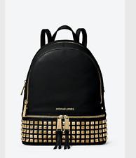 MICHAEL Michael Kors Rhea Studded Backpack (Black/Gold)