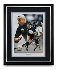 Jonah Lomu Signed Photo Large Framed Display Rugby Autograph Memorabilia + COA