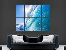 Blue Wave MARE SPUMA Grande Muro Foto Poster Gigante Enorme Arte