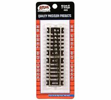 """Atlas #525   2"""" Straight Track (4-pack) HO Scale Code 83 Rails"""