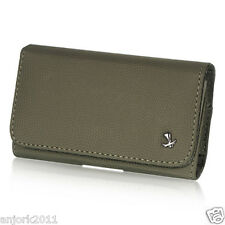 APPLE iPHONE 5 GRAY LEATHERETTE CASE BELT CLIP HORIZONTAL POUCH LUX9