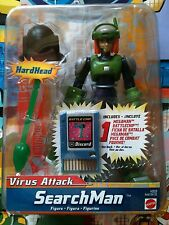 Megaman Figure Virus Attack Searchman NT Warrior Includes Battlechip Discord