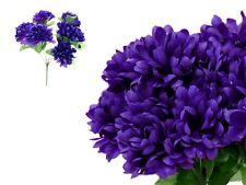 12 Purple bushes Silk CHRYSANTHEMUMS Ball Wedding Flowers Bouquets Decorations