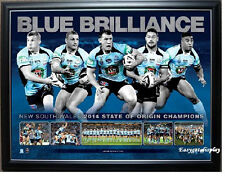 NEW SOUTH WALES 2014 STATE OF ORIGIN PREMIERSHIP SUCCESS SPORTSPRINT FRAMED