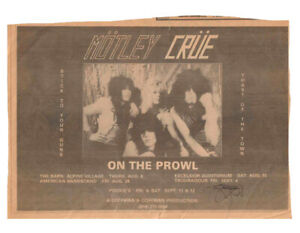 MOTLEY CRUE - Very Early Club Ad Clipping From BAM Magazine - Extremely rare