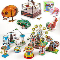 Birthday Gifts For Kids Boy Men Women Classic Vintage Clockwork Tin Wind Up Toys