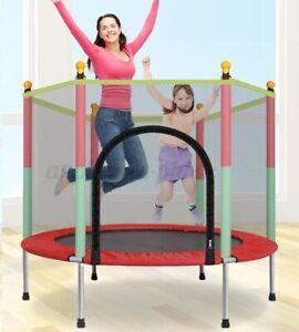 5 FT Kid Trampoline Safety Net Enclosure Children Kids Outdoor Garden Fun Toy